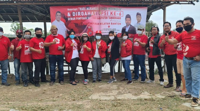 PSI Kabupaten Tangerang dan DPW PSI Banten Menanam 600 Pohon Magrove di Tanjung Burung Teluk Naga