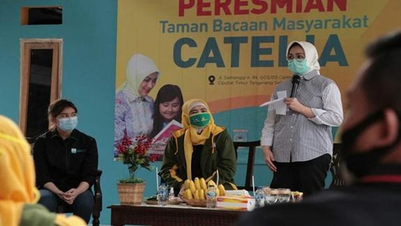 Walikota Airin Resmikan TBM Catelia