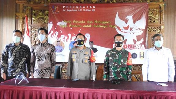 Peringati Sumpah Pemuda, Dandim 0510/Trs bersama 3 Pilar Polres dan Pemda kabupaten Tangerang Ajak Mahasiswa turut Perangi Covid 19