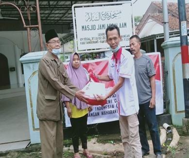GPMN Bekerjasama dengan Dewan Masjid Indonesia ( DMI ) Peduli Masyarakat Terdampak Pandemi covid 19 di Tangerang Kabupaten.