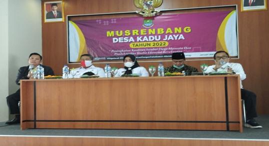Legislator Tangerang Kabupaten Mendampingi MUSRENBANGDES Kadu Jaya