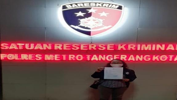 Awak Media online Membuat Laporan Ke Polres Metro Tangerang