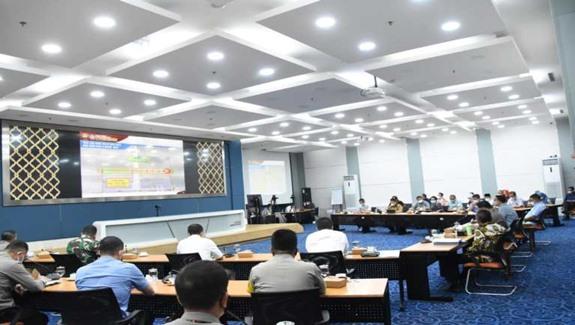 Suasana Rapat Koordinasi Forkopimda DKI Jakarta