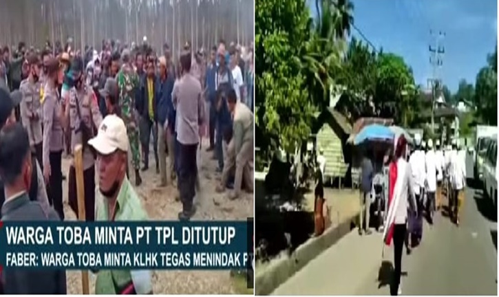 MASYARAKAT TOBA PROTES ATAS PT TPL
