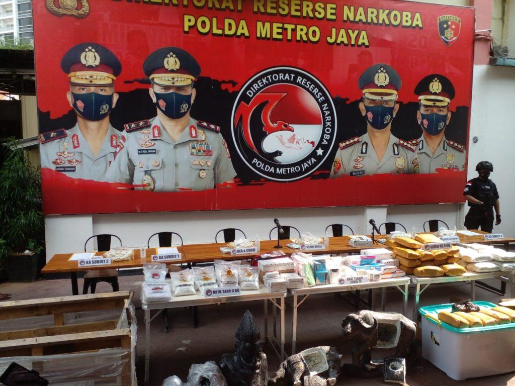 Polda Metro gagalkan penyelundupan 16 kg sabu dari Afrika