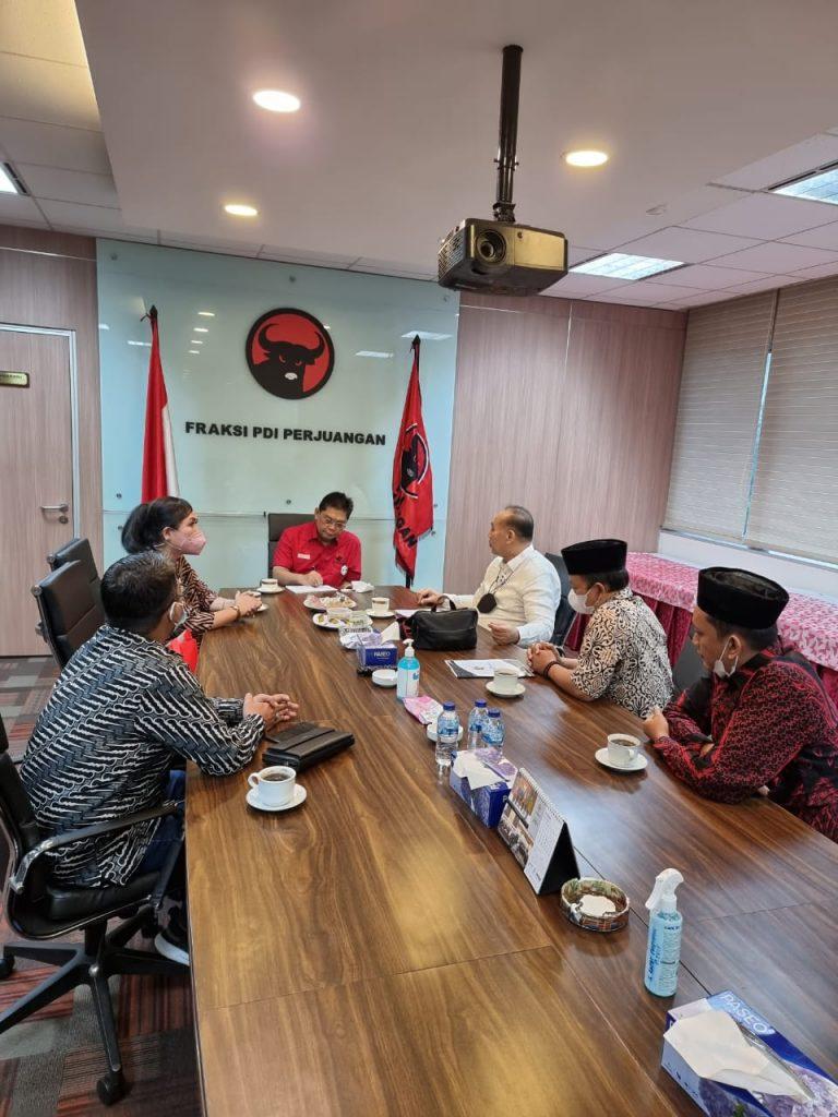 DPP GPMN Bersilaturahmi Fraksi PDIP Usul Program Kerakyatan di Pembahasan RUU APBN 2022