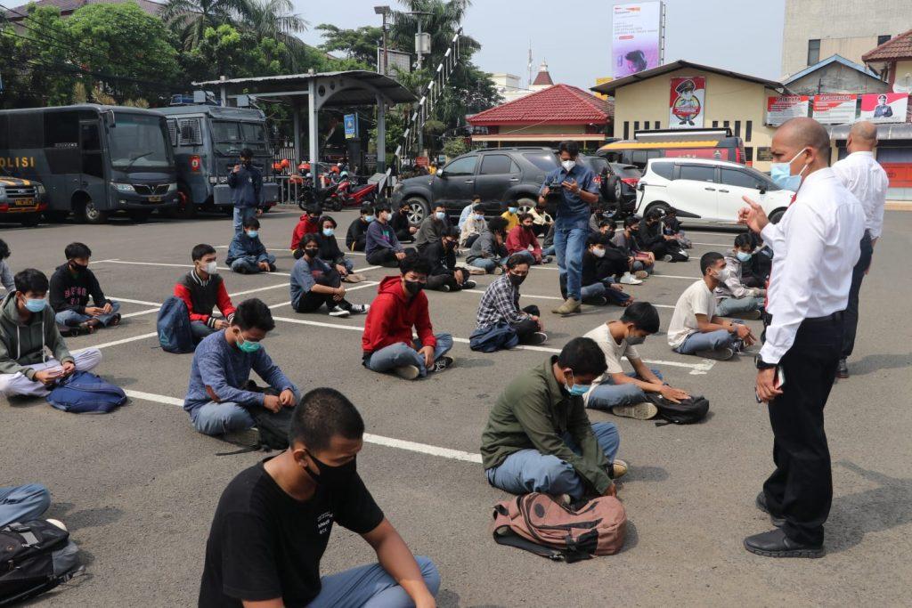 Pelajar Kota Tangerang diamankan di Mapolresta Tangerang